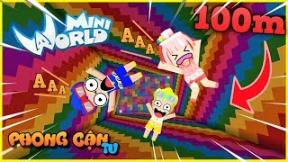 Mini world: Cú nhảy từ độ cao 1000 block cùng bộ 3 bá đạo trong mini world | Phong Cận Tv