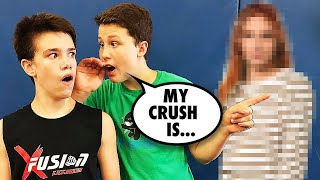 Crush Reveal Backflip Challenge Bryton vs Ethan - Loser Reveals Crush