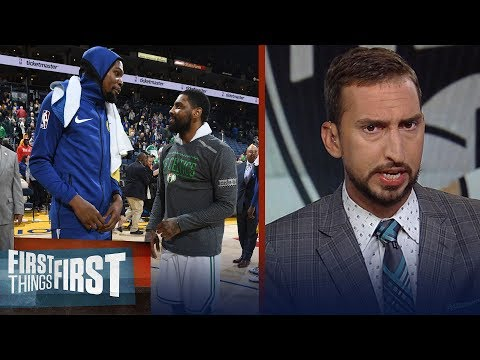 Nick and Cris react to the Nets signing Kevin Durant and Kyrie Irving | NBA | FIRST THINGS FIRST