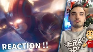 CAPTAIN MARVEL : REACTION au TOUT NOUVEAU TRAILER ! 😱