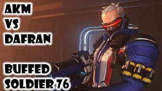 AKM vs Dafran on Buffed Soldier - Overwatch Season 15