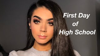 FIRST DAY OF HIGH SCHOOL GRWM/VLOG