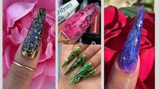 Plastic Wrap Nail Art Compilation😍