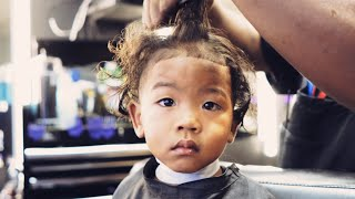 MY SON'S FIRST HAIRCUT AT A BLACK BARBERSHOP