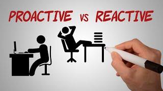 Proactive vs Reactive   Be Proactive