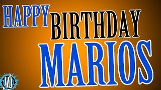 HAPPY BIRTHDAY MARIOS! 10 Hours Non Stop Music & Animation For Party Time #Birthday #Marios