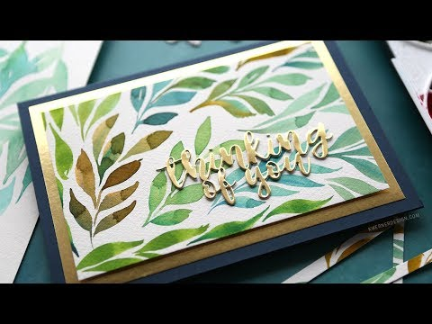 Watercolor Leaves – Mixing Colors on the Brush