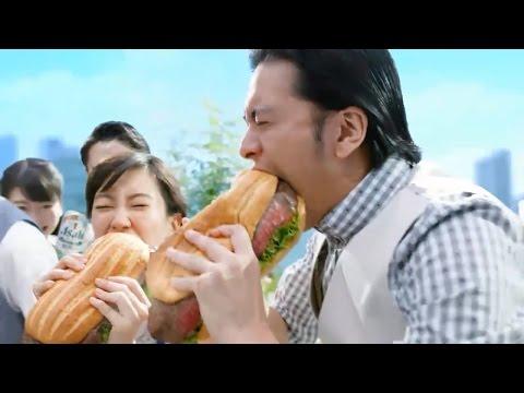 長瀨智也、水川麻美 Asahi STYLE FREE「香蒜牛排三明治」篇