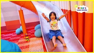 Giant Slide in our room on the cruise and fun indoor playground for kids!