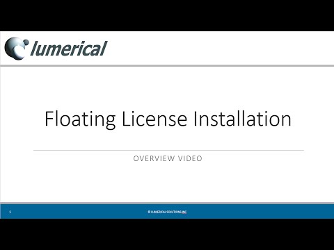 Lumerical Software: Floating License Installation