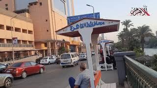 مقاعد-ومظلات-أمام-معهد-الأورام-على-كورنيش-النيل-لراحة-المرضى-وذويهم