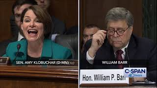 Complete exchange between Sen. Amy Klobuchar and Attorney General Barr (C-SPAN)