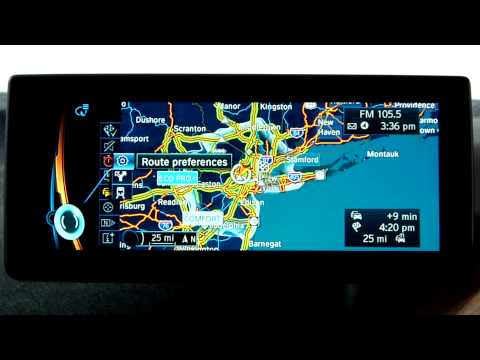 BMW i Navigation System: Public Transportation Routing