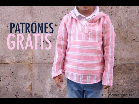Costura: Camisa con capucha para niños (patrones gratis hasta 8 años)