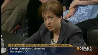 Judiciary hearing on Elena Kagan: Dr. Coburn's Remarks (Day 2)