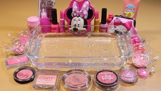 """Special Series2 #01 Mixing """"PINK"""" EYESHADOW and Parts,glitter... Into Slime! WE LOVE PINK!"""