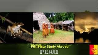 'Pitt State Study Abroad - Peru 2012