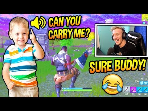 TFUE PLAYS FORTNITE WITH A CUTE LITTLE KID! *ADORABLE* Fortnite SAVAGE & FUNNY Moments