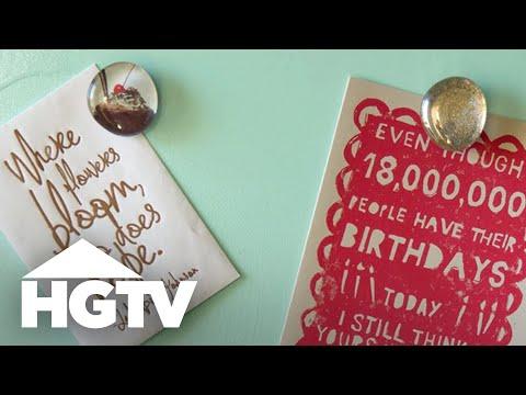 Easy DIY Glass Magnets - HGTV