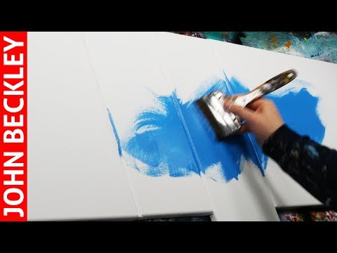 Abstract Painting Demonstration In Acrylics | Xeria