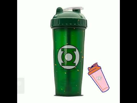 Perfect Shaker Hero Shaker Cup (Green Lantern) - 28 oz .