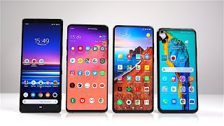 Sony Xperia 1 vs. Samsung Galaxy S10+ vs. Xiaomi Mi 9T vs. Honor 20 - Benchmark | SwagTab