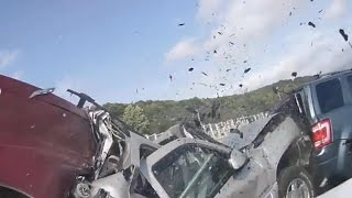 Dramatic car crash caught on camera