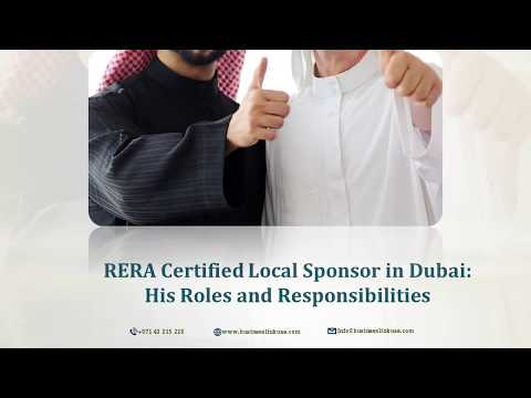 RERA Certified Local Sponsor in Dubai - His Role and Responsibilities