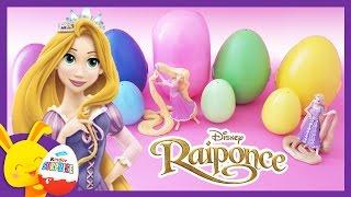 Raiponce - Oeufs surprises de couleurs avec les personnages - Princesses Disney - Touni toys