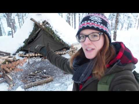 Building A Lean-To Shelter For Bug Out Location 3