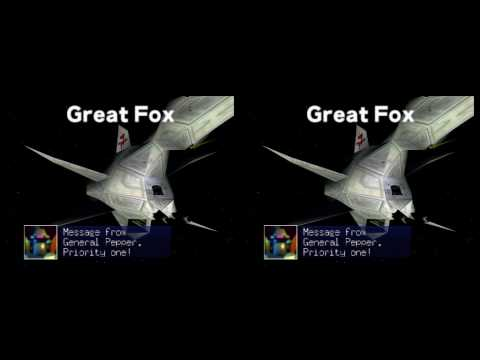 Starfox 64 (Lylatwars) Intro in 3D (yt3d:enable=true)