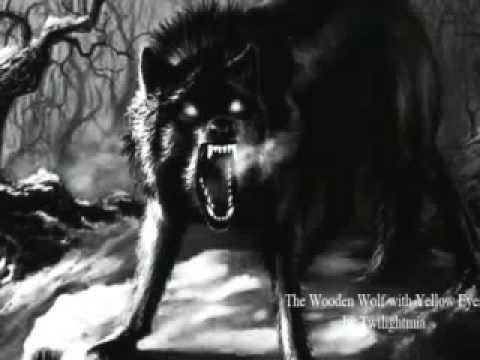 The wooden wolf with yellow eyes by twilightmia scary - Scary yellow eyes ...