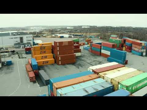 Nyöppnad terminal med Lundby Container Service