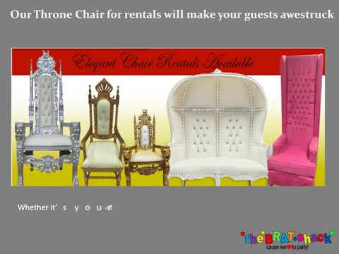 Our Throne Chair for rentals will make your guests awestruck