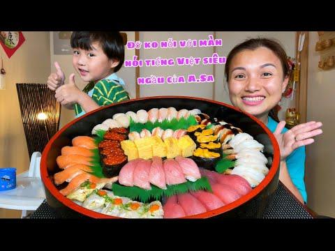 2,6 triệu cho mâm sushi 12 loại siêu to khổng lồ thơm ngon quá xá #955