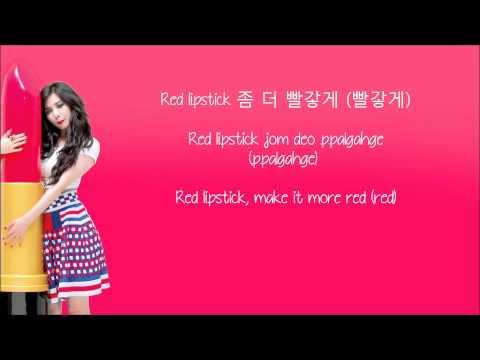 Hyuna - Red (빨개요) (Hangul/Rom/Eng Lyrics) Eng sub