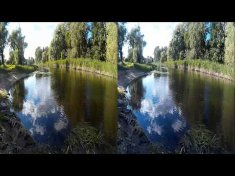 River in 3D! Natural sounds of Nature! 3D VIDEO