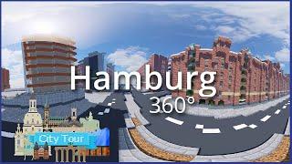 Elbphilharmonie, Airport and more! - 360° City Tour #1: Hamburg + Timelapse | Minecraft BTE Germany