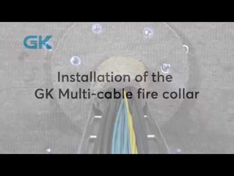 GK Multi-cable fire collar installation