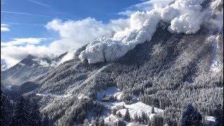 Gigantische Schnee-Lawine in den Schweizer Alpen Januar 2019 freie Energie
