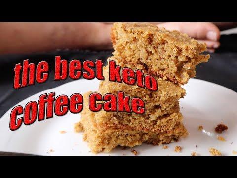 The BEST KETO COFFEE CAKE recipe | low carb, grain free, sugar free, ketogenic |