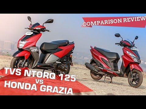 TVS NTorq 125 vs Honda Grazia: Comparison Review