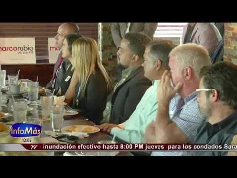 Rubio se reúne con comerciantes de pequeños negocios en Orlando