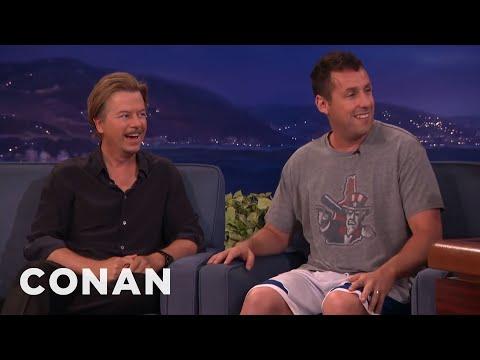Adam Sandler Warned Chris Farley Not To Beat Up David Spade  - CONAN on TBS