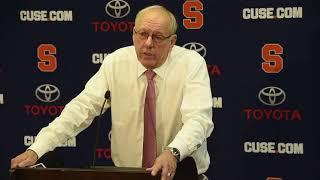 Jim Boeheim postgame news conference after Syracuse basketball vs. Cornell (2017)