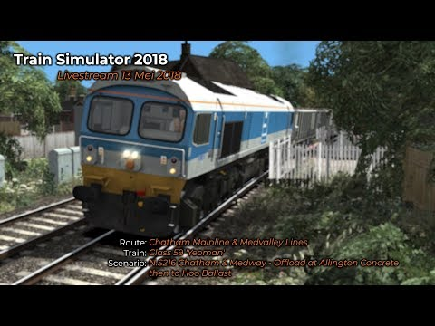 NS216 Chatham  Medway  Offload at Allington Concrete then to Hoo Ballast Livestream 13052018