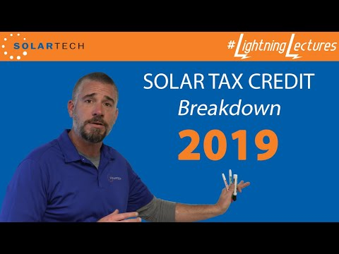 A Breakdown Of The Federal Solar Tax Credit From 2019 through 2023.