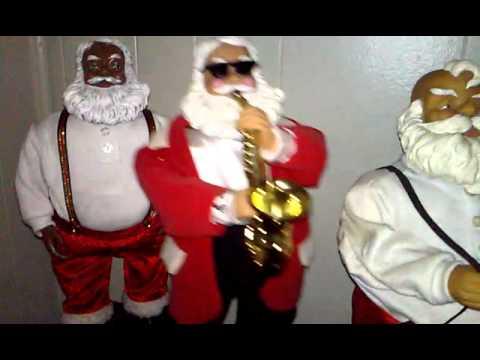 Gemmy Dancing Santa's