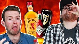 Irish People Try Fireball Whiskey Mixes