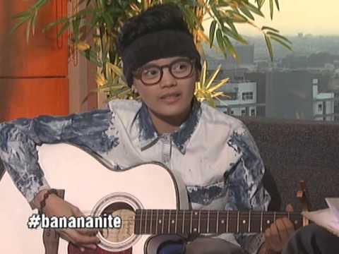 April Mariz 'Epey' Herher sings on Banana Nite's 'Ihaw Na' segment